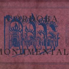 Postales: CORDOBA - MONUMENTAL - 17 LAMINAS POSTALES - BLANCO Y NEGRO. Lote 127576183