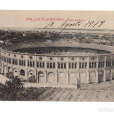 Postales: SANLUCAR DE BARRAMEDA (CADIZ). PLAZA DE TOROS. MANUEL BARREIRO. Lote 128392683