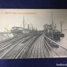 Postales: POSTAL ANTIGUA HUELVA PUERTO VISTA MUELLE SUR 12 FOTOTIPIA THOMAS ESCRITA NO CIRCULADA. Lote 128861055