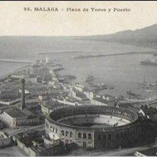 Postales: P-8542. POSTAL MALAGA, PLAZA DE TOROS Y PUERTO. Nº25. Lote 129445635