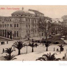 Postales: JAÉN.- TEATRO CERVANTES. EDICIÓN DE LA PAPELERÍA DE VDA DE JOSÉ M. ROMERO.. Lote 129509647