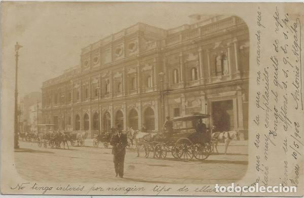 POSTAL FOTOGRAFICA ANTIGUO AYUNTAMIENTO SEVILLA SIN DIVIDIR ANIMADA 1902 (Postales - España - Andalucía Antigua (hasta 1939))