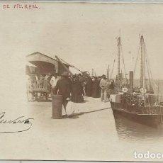 Postales: POSTAL FOTOGRAFICA ANTIGUA CADIZ VAPOR DE PUERTO REAL SIN DIVIDIR ANIMADA. Lote 130383182