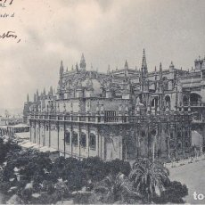 Postales: SEVILLA - LA CATEDRAL - POSTAL HAUSER Y MENET 8 - CIRCULADA CON SELLO EN 1903 - EXCELENTE ESTADO. Lote 130554298