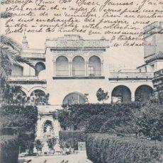 Postales: SEVILLA - JARDINES DEL ALCAZAR - POSTAL HAUSER Y MENET 1246 - CIRCULADA CON SELLO EN 1904. Lote 130554614