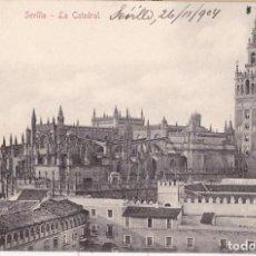 Postales: SEVILLA - LA CATEDRAL - POSTAL STENGEL & CO 28019 - CIRCULADA CON SELLO EN 1904. Lote 130555938
