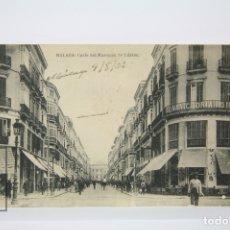 Postales: ANTIGUA POSTAL - MÁLAGA, CALLE DEL MARQUES DE LÁRIOS - EDIT. HAUSER Y MENET - AÑO 1925. Lote 130904955