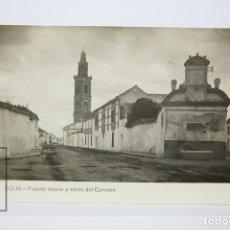 Postales: ANTIGUA POSTAL FOTOGRÁFICA - ÉCIJA / FUENTE NUEVA Y TORRE DEL CARMEN. Lote 130904999