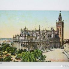 Postales: ANTIGUA POSTAL COLOREADA - SEVILLA / LA CATEDRAL - EDIT. C.R.S. Lote 130905032