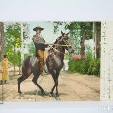 Postales: ANTIGUA POSTAL COLOREADA - SEVILLA /JINETE ANDALUZ Nº 165 - EDIT. PURGER & CO. Lote 130905105