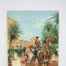 Postales: ANTIGUA POSTAL ILUSTRADA - SEVILLA / A LA FERIA - EDIT. STENGEL & CO. Lote 130905153