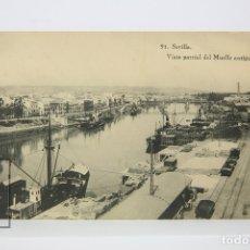 Postales: ANTIGUA POSTAL - SEVILLA / VISTA PARCIAL DEL MUELLE ANTIGUO - EDIT. BARREIRO. Lote 130905836