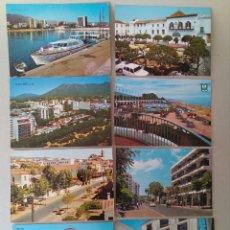 Postales: LOTE DE 8 POSTALES DE MARBELLA AÑOS 60.. Lote 131189553