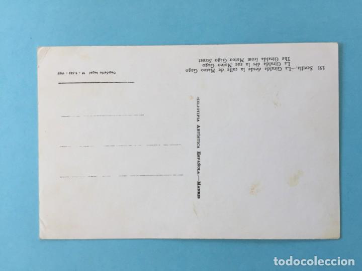 Postales: POSTAL LA GIRALDA DESDE LA CALLE DE MATEO GAGO SEVILLA _LEY218 - Foto 2 - 131747290