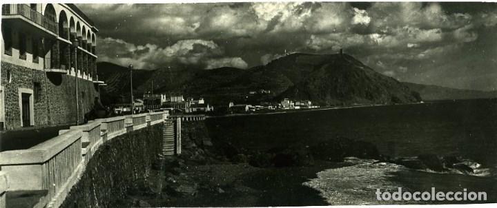 ALMUÑECAR (GRANADA) PEÑÓN PAJARITO. POSTAL SUPERPANORÁMICA. EDICIONES ARRIBAS Nº 906. FOTOGRÁFICA. (Postales - España - Andalucia Moderna (desde 1.940))