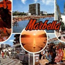 Postales: MARBELLA – COSTA DEL SOL – 1968 – CIRCULADA. Lote 131943694