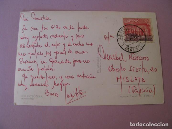 Postales: POSTAL DE ANTEQUERA. LA MORALEJA. ED. ARRIBAS. CIRCULADA. - Foto 2 - 132817522
