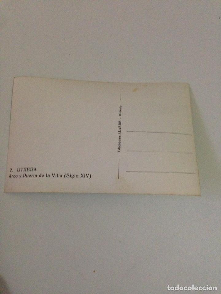 Postales: Postal antigua,2-utrera,arco y pierta de la villa (siglo XIV). - Foto 3 - 133400010