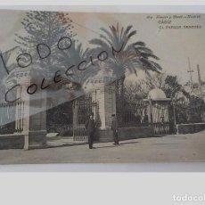 Postales: ANTIGUA POSTAL DE CADIZ.EL PARQUE GENOVES.HAUSER Y MENET.ESCRITA.. Lote 133486278