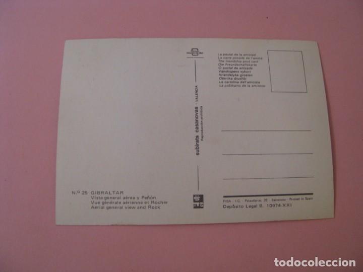 Postales: POSTAL DE GIBRALTAR. VISTA GENERAL AÉREA Y PEÑÓN. ED. SUBIRATS CASANOVAS - Foto 2 - 133581838
