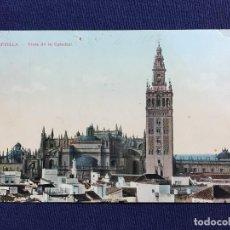 Postales: SEVILLA VISTA DE LA CATEDRAL POSTAL INSCRITA CIRCULADA 1923 A ARANJUEZ PATIO CUADRADO 32 TOMAS SANZ. Lote 135158598