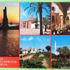 Postales: HUELVA. 93 LYGARES COLOMBINOS. ED. ARRIBAS. NUEVA. COLOR. Lote 135205753
