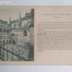 Cartoline: POSTAL GRANADA - EXTERIOR DE LA CAPILLA REAL, EDICIONES CAYON, TEXTOS DE PEDRO DE REPIDE. Lote 135234318