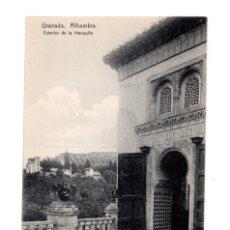Postales: GRANADA.- (ALHAMBRA).- EXTERIOR MEZQUITA. Lote 135262342