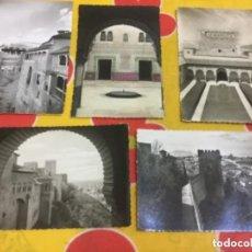 Postales: LOTE DE 5 POSTALES DE LA ALHAMBRA DE GRANADA. Lote 135346618