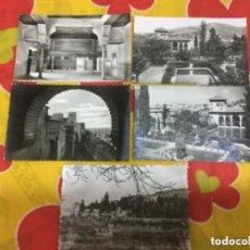 Postales: LOTE DE 5 POSTALES DE LA ALHAMBRA Y GENERALIFE DE GRANADA. Lote 135348350