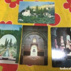 Postales: LOTE DE 4 POSTALES DE LA ALHAMBRA Y GENERALIFE DE GRANADA. Lote 135348818