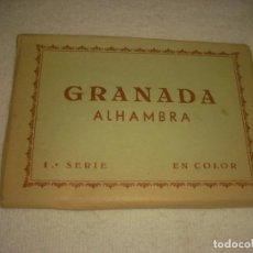 Postales: GRANADA , ALHAMBRA , BLOCK DE 10 POSTALES , SERIE 1ª KOLOR ZERKOWITZ. Lote 135576242