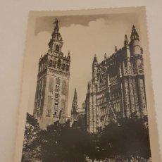 Postales: SEVILLA GIRALDA Y PATIO DE LOS NARANJOS. Lote 135801642