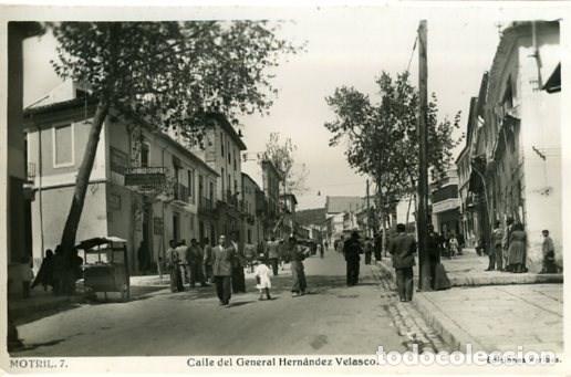 MOTRIL (GRANADA). CALLE DEL GENERAL HERNÁNDEZ VELASCO. EDICIONES ARRIBAS Nº 7. FOTOGRÁFICA. (Postales - España - Andalucia Moderna (desde 1.940))