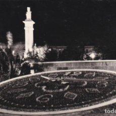 Postales: POSTAL DE CADIZ - PLAZA ESPAÑA RELOJ FLORAL Y MONUMENTO A LAS CORTES. Lote 136446010
