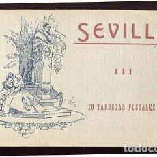 Postales: SEVILLA BLOC CON 18 POSTALES. COLECCION MANUEL BARREIRO. Lote 136495718