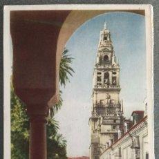 Postales: POSTAL 25. CÓRDOBA. PATIO DE LOS NARANJOS Y TORRE DE LA CATEDRAL . Lote 136528598