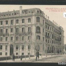 Postales: MÁLAGA - EDIFICIO DE LA DIRECCIÓN Y OFICINAS DE LOS FERROCARRILES ANDALUCES - P27734. Lote 136649270