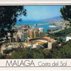 Postales: POSTAL MÁLAGA. COSTA DEL SOL. PLAZA DE TOROS Y PUERTO Nº 2. L.DOMÍNGUEZ. ESCUDO DE ORO. SIN CIRCULAR. Lote 137168586