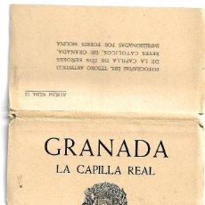 Postais: BLOC DE 11 EN ACORDEON DE - GRANADA. - LA CAPILLA REAL.-FOTO -TORRES MOLINA Nº 12. Lote 137443446