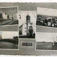 Postales: HUELVA. POSTAL CON CINCO VISTAS. EDICIONES M. ARRIBAS, CIRCULADA. Lote 137510418