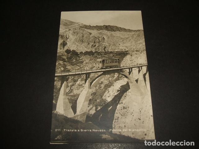 SIERRA NEVADA GRANADA TRANVIA PUENTE DEL BLANQUILLO FERROCARRIL POSTAL FOTOGRAFICA (Postales - España - Andalucía Antigua (hasta 1939))