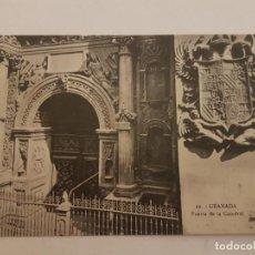 Postales: GRANADA PUERTA CATEDRAL. Lote 138974286