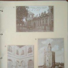Postales: HOJA DE 3 POSTALES DE SEVILLA ANTIGUAS,COLECCION DIARIO 16-FORTUNA.N 34,35 Y 36.VER FOTOS.. Lote 139179016