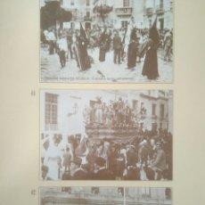 Postales: HOJA DE 3 POSTALES DE SEVILLA ANTIGUAS,COLECCION DIARIO 16-FORTUNA.N 40,41 Y 42.SEMANA SANTA. Lote 139179364