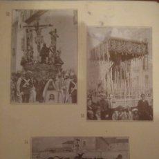 Postales: HOJA DE 3 POSTALES DE SEVILLA ANTIGUAS,COLECCION DIARIO 16-FORTUNA.N 52,53 Y 54 SEMANA SANTA. Lote 139262929