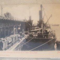 Postales: POSTAL DE HUELVA. RIO TINTO CO. LD., EMBARQUE DE CASCARA EN SU VAPOR. DON HUGO. ED. LUNWERG.. Lote 139693342