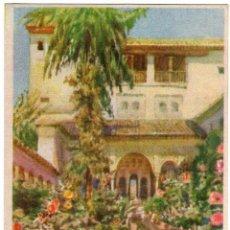 Postales: BONITA POSTAL - GRANADA - ALBERCA DEL GENERALIFE - PUBLICIDAD DE - EL AGUILA REAL - TINTE Y LAVADO . Lote 139735970