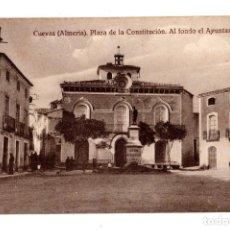 Postales: CUEVAS.(ALMERIA).- PLAZA DE LA CONSTITUCIÓN. AL FONDO AYUNTAMIENTO. Lote 172927580