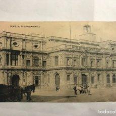 Postales: SEVILLA. POSTAL ANIMADA. EL AYUNTAMIENTO. EDITA:FOTOTIPIA HAUSER Y MENET (H.1930?(. Lote 139920949